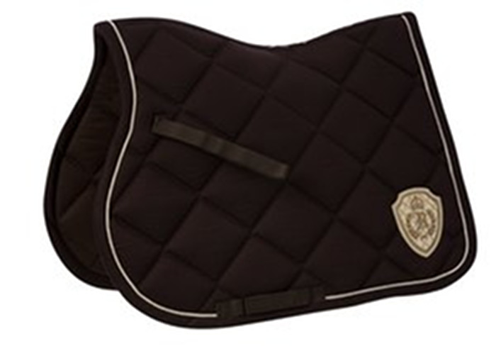 tapis de selle equi theme royal chocolat