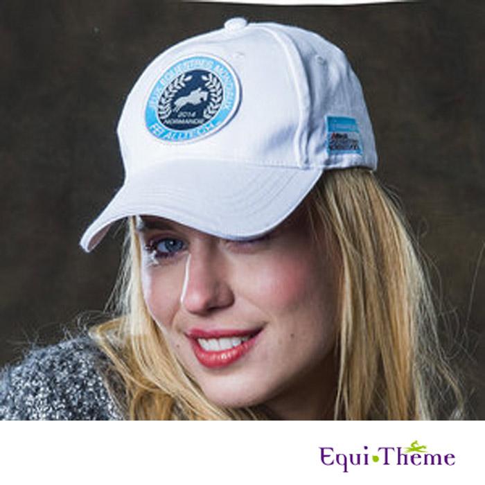 Mondiaux blanc casquette equi theme collection jeux equestres mondiaux