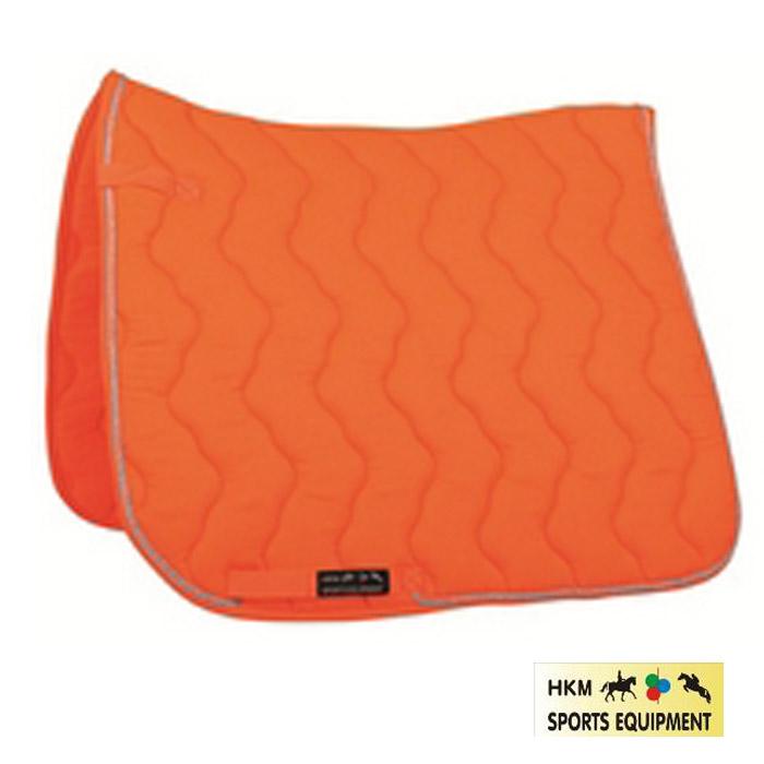 tapis de selle hkm neon orange fluo