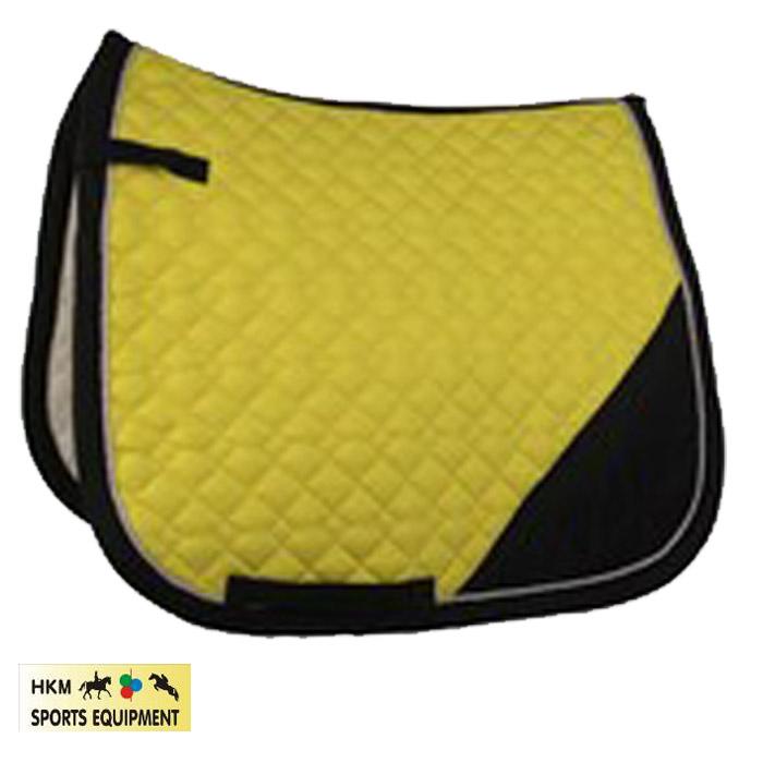 tapis de selle hkm print jaune